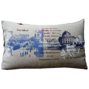 Cushions: Old flour sack