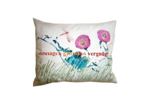 Cushions: So to speak unfoundedly amused with mallow blossom