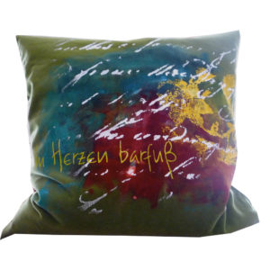 Cushions: barefoot in the heart