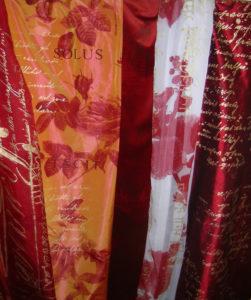 Furnishing fabrics: Silk printed