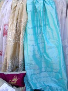 Furnishing fabrics: Silk with spring poem