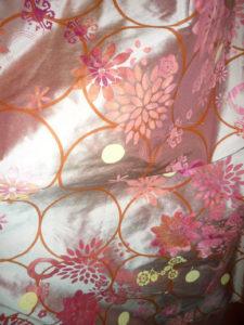 Furnishing fabrics: silk hand-printed